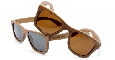 "KALEA Walnut Wood Sunglasses ""Black"""