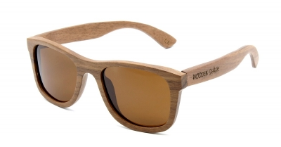 "KALEA Walnut Wood Sunglasses ""Brown"""