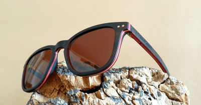 "AMITA V2 ""Brown"" Skateboard Wood Sunglasses"