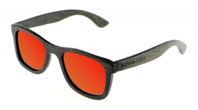 "KALEA (BLACK EDITION) ""Red"" - Bamboo Sunglasses"