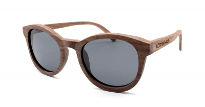 "KEOLA (Walnut wood) Sunglasses ""Black"""