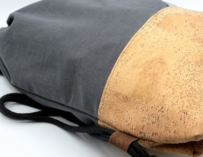 "Cork backpack | Sports bag ""Grey"" (Stoffalex special edition)"