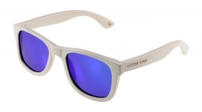 "LIKO (WHITE EDITION) ""Blue"" - Bamboo Sunglasses"
