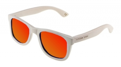 "LIKO (WHITE EDITION) ""Red"" - Bamboo Sunglasses"