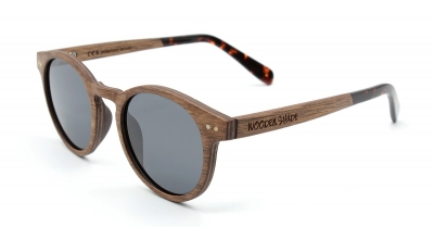 "MAYA Walnut Wood Sunglasses ""'Black"""