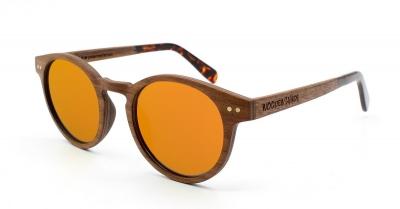 "MAYA Walnussholz Sonnenbrille ""Orange"""