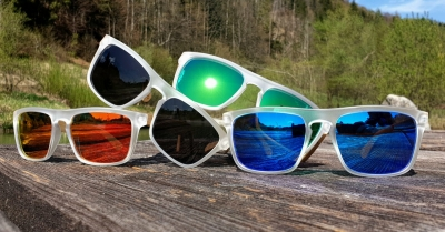 Upcycling Sonnenbrille SHADE #1 - Bambus Edition (Transparent)