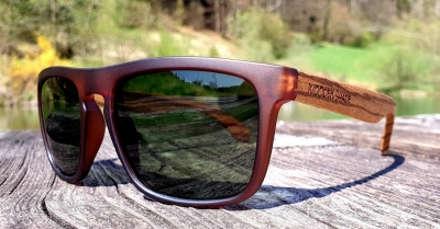 Upcycling Sonnenbrille SHADE #1 - Zebrano Holz Edition