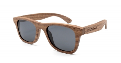 "KEIKI Walnut Wood Sunglasses ""Black"""