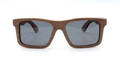 """LONO """"Schwarz"""" - Walnuss Holz Sonnenbrille"""