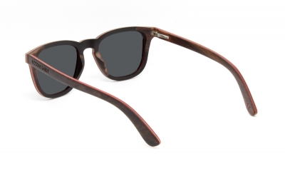 "AMITA ""Black"" Skateboard Wood Sunglasses"