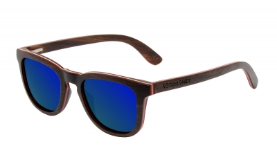 "AMITA ""Blue"" Skateboard Wood Sunglasses"