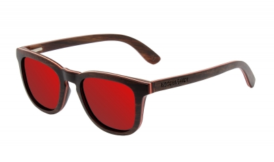 "AMITA ""Red"" Skateboard Wood Sunglasses"