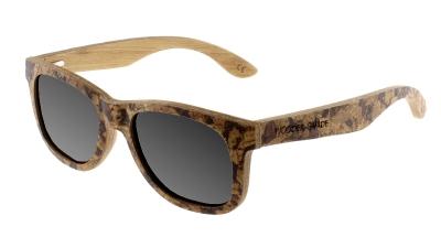 """MALIO (Cork) Bamboo Sunglasses """"Black"""""""