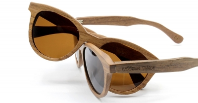 "SIVA Walnut Wood Sunglasses ""Brown"""