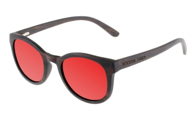 "KEOLA (Ebony wood) Sunglasses ""Red"""