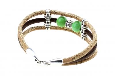 "cork bracelet #1 ""green"""