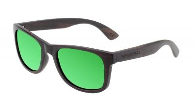 "LIKO Ebony Wood Sunglasses ""Green"""