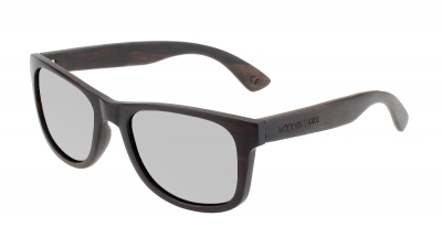 "LIKO Ebony Wood Sunglasses ""Silver"""