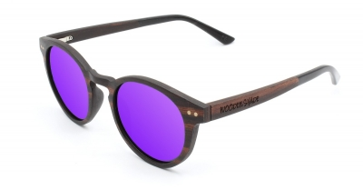 "MAYA Ebony Wood Sunglasses ""Purple"""