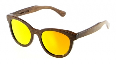 "SIVA Bamboo Sunglasses ""Orange"""