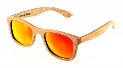 "KALEA (Kalama Edition) ""Red"" - Zebra Wood Sunglasses"