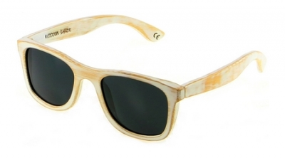 "KALEA (White Vintage Edition) ""Black"" - Bamboo Sunglasses"