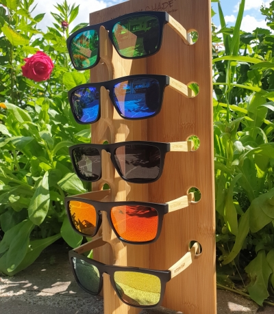 Upcycling Sunglasses SHADE #2 - Bamboo Edition (Black)