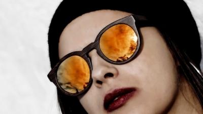 "DARK LANEA (Bamboo Sunglasses) ""Orange"""