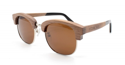 "ZAHARA (Walnut wood Sunglasses) ""Brown"""