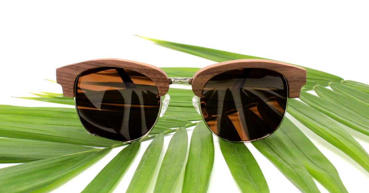 WOODEN SHADE Walnut wood Sunglasses | Zahara | Brown lenses
