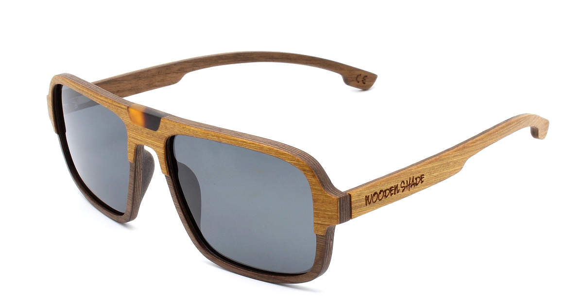 Budy Holz Sonnenbrille Damen Herren Wooden Shade Sunglasses Women Men gold wood1