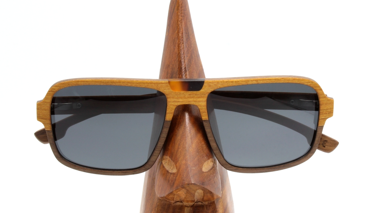 Budy Holz Sonnenbrille Damen Herren Wooden Shade Sunglasses Women Men gold wood4