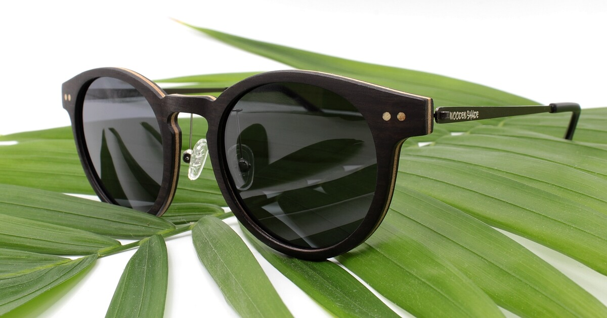 Wood & Metal Mix Sunglasses | Black / Round / Women |  WOODEN SHADE