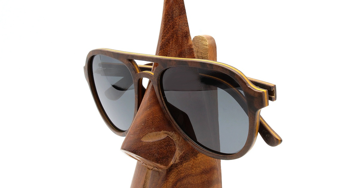 Aviator Style Black - Wood Sunglasses - Men & women - woodenshades
