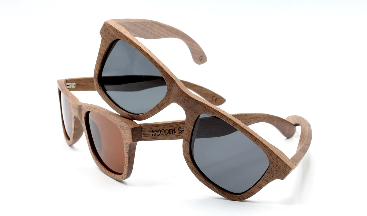 Walnut Wood Sunglasses | Black & Brown | WOODEN SHADE