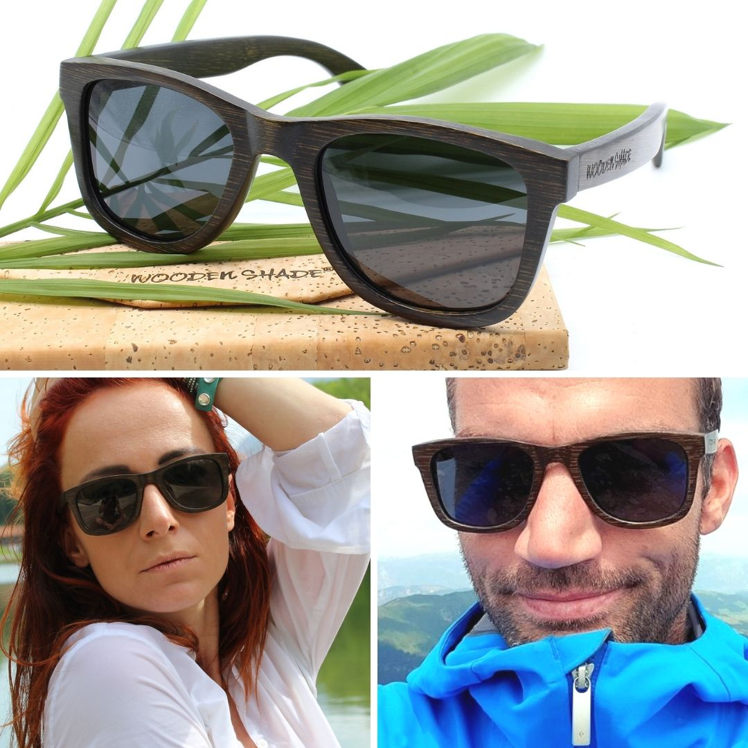 Wooden Shade Bamboo Sunglasses for Men and Women - Model - LIKO - Our Bestseller #1