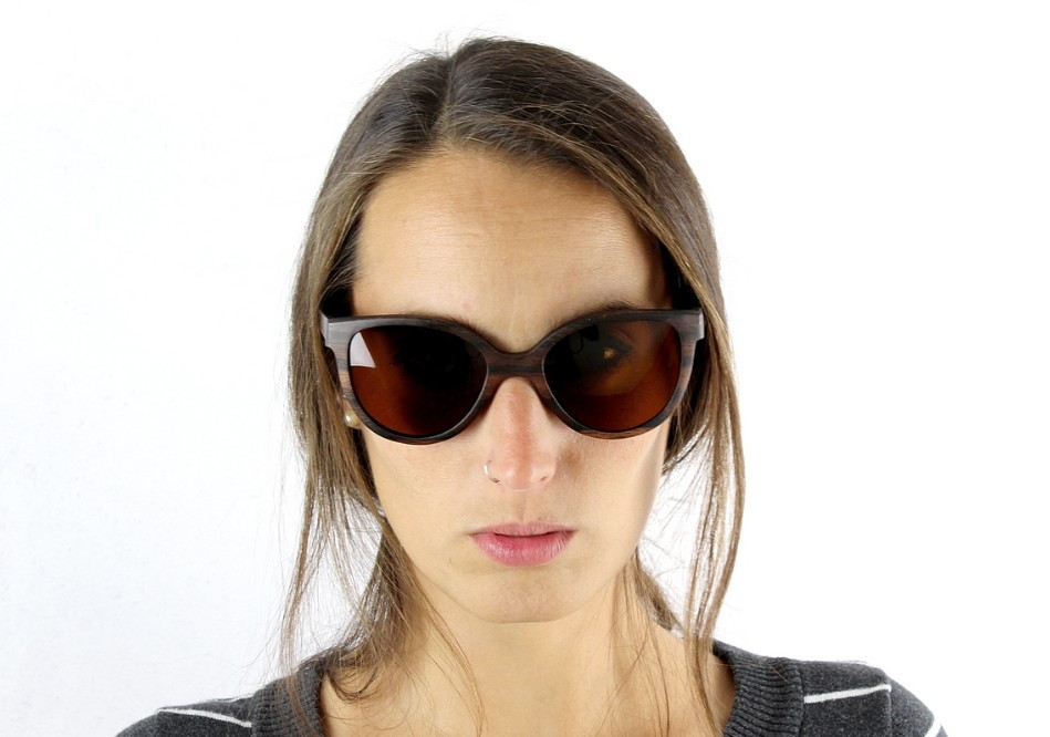 Wooden Shade Sunglasses LUA Brown Women Wood Sunglasses