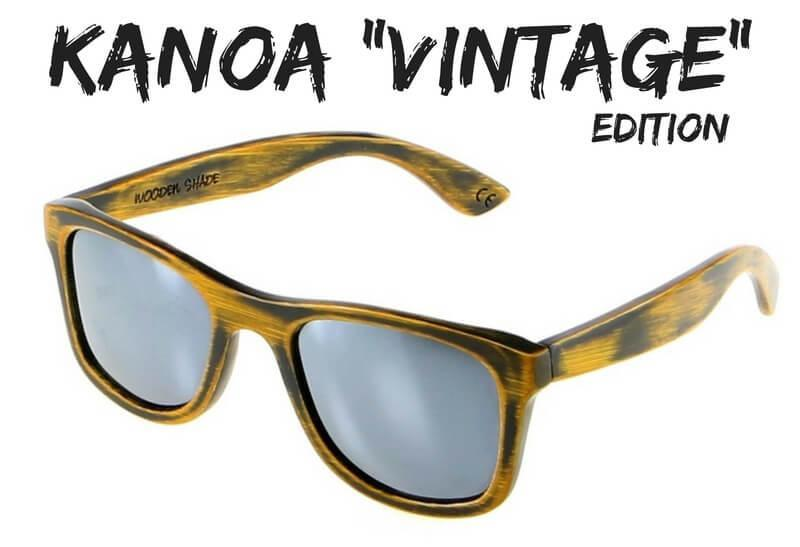 kanoa vintage bambus holz sonnenbrille wooden shade limited edition