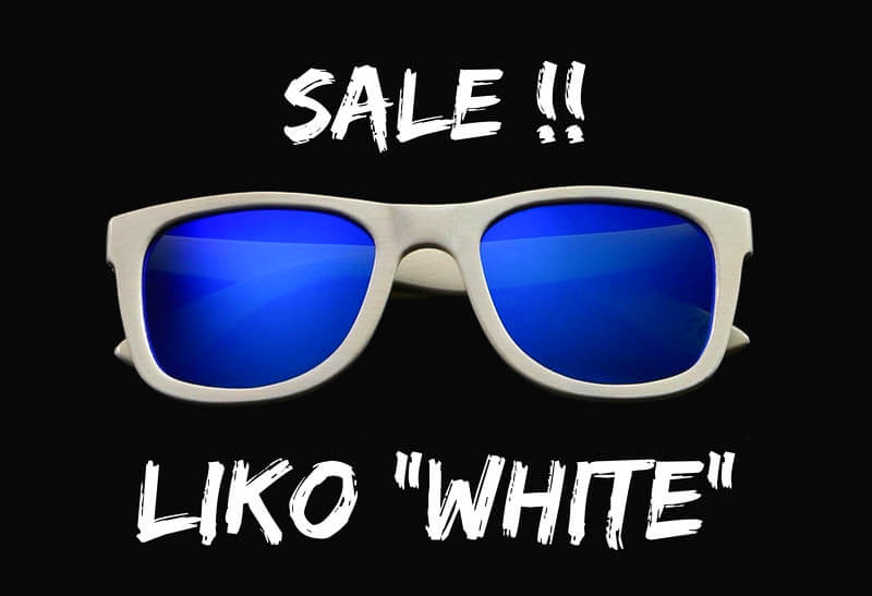 liko sale white bamboo sunglasses